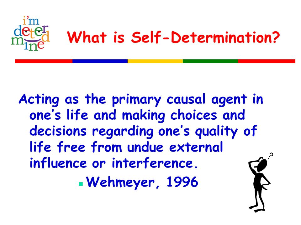 What is Self-Determination.