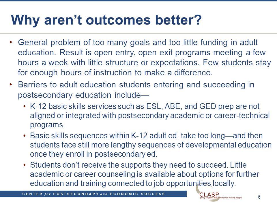 Career pathway bridges for intermediate and advanced adult ed.