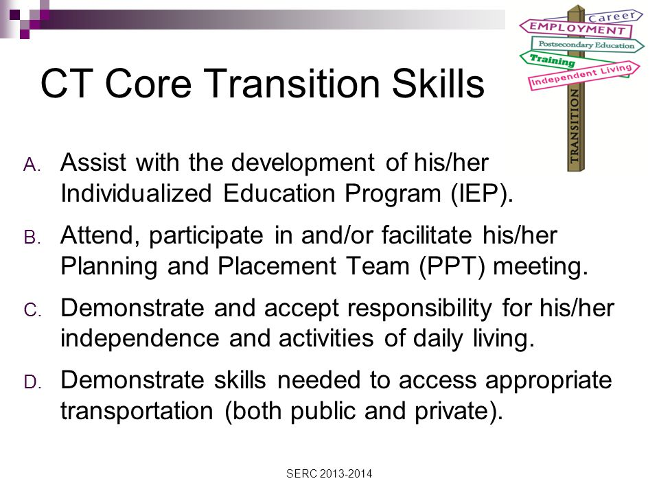 CT Core Transition Skills A.