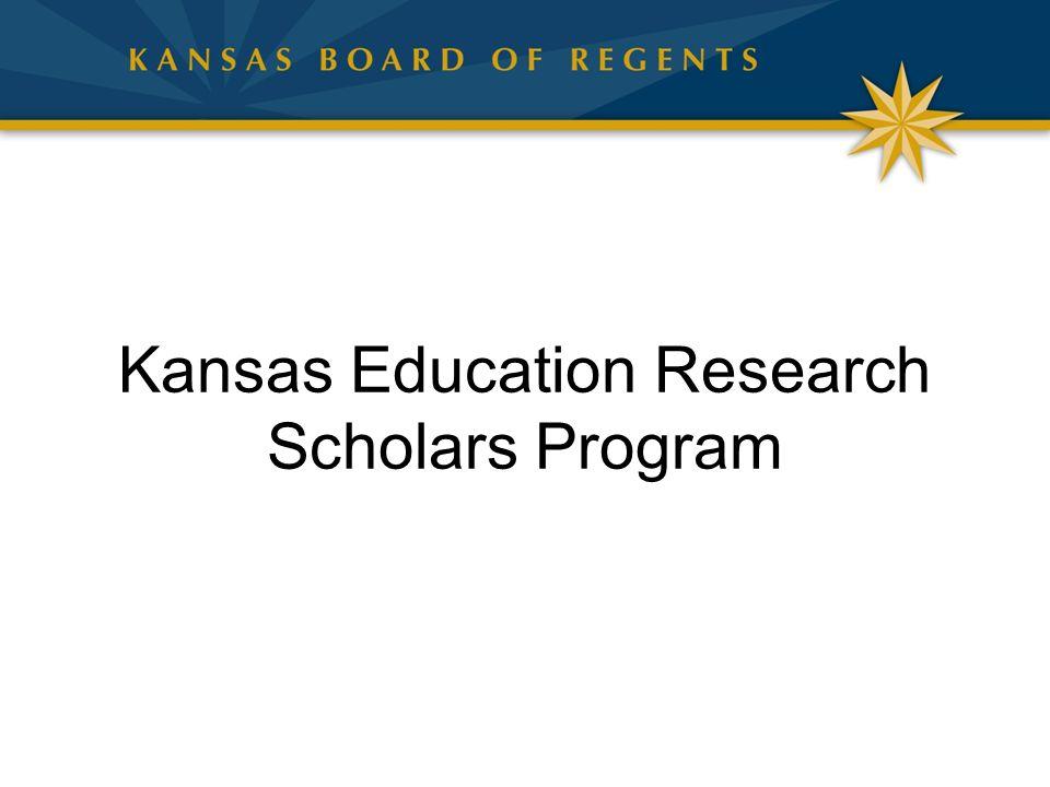 Kansas Education Research Scholars Program