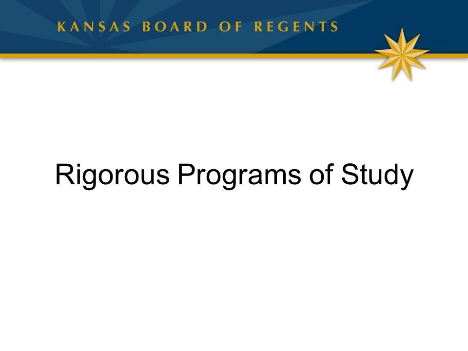 Rigorous Programs of Study