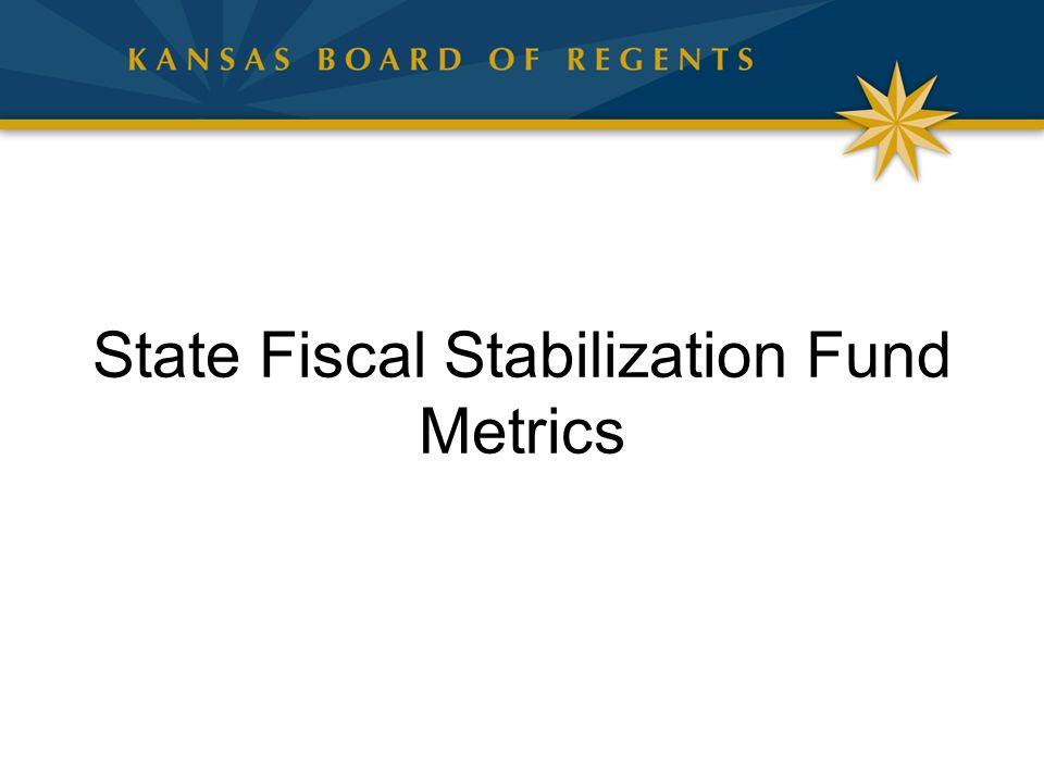 State Fiscal Stabilization Fund Metrics