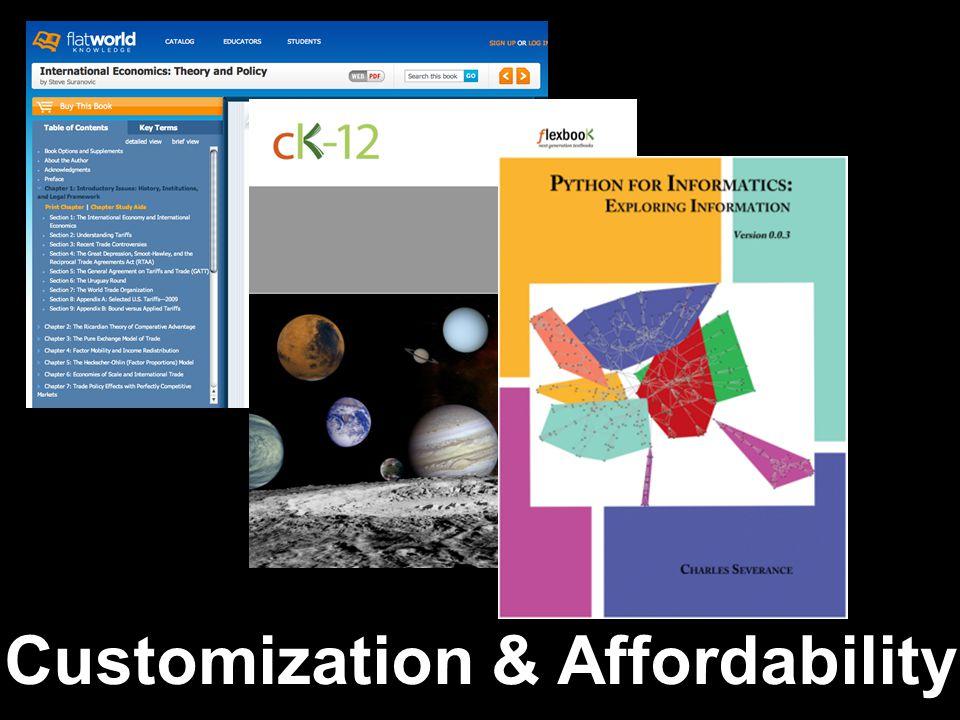 Customization & Affordability