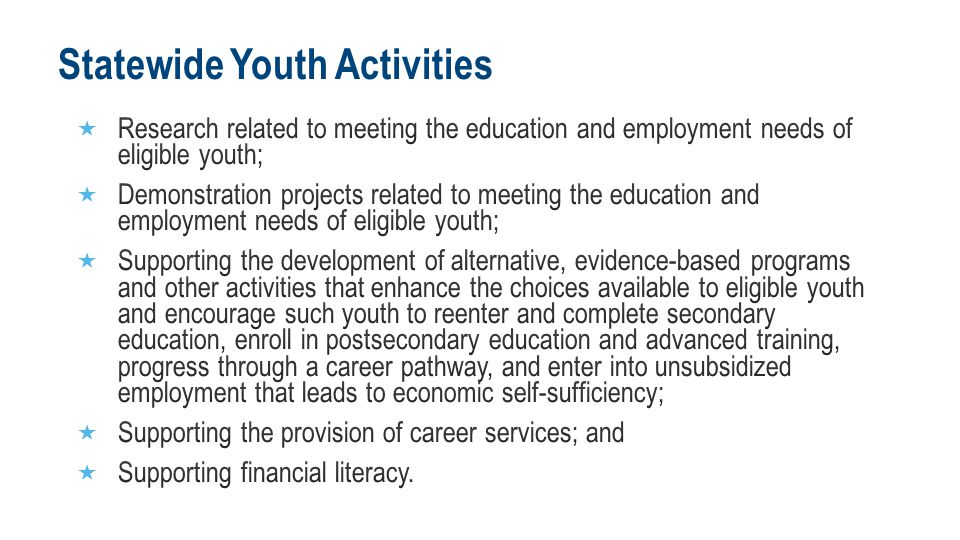 Statewide Youth Activities