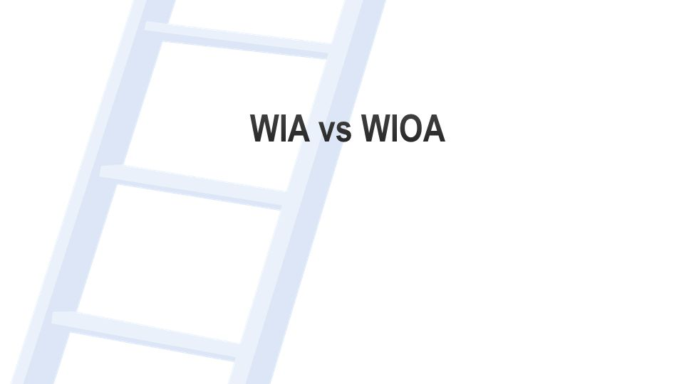 Career Pathways and WIOA  Adds a new definition of career pathway to WIA that means a combination of rigorous and high-quality education, training, and other services.