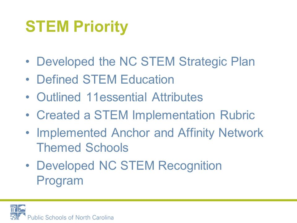STEM Attribute Evidences Include evidences of STEM accomplishments Incorporate supporting data as appropriate- use student results/outcomes Supporting evidences may include 1 link for the entire Attribute Remove personally identifiable information