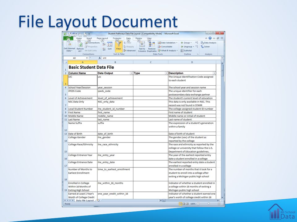 File Layout Document