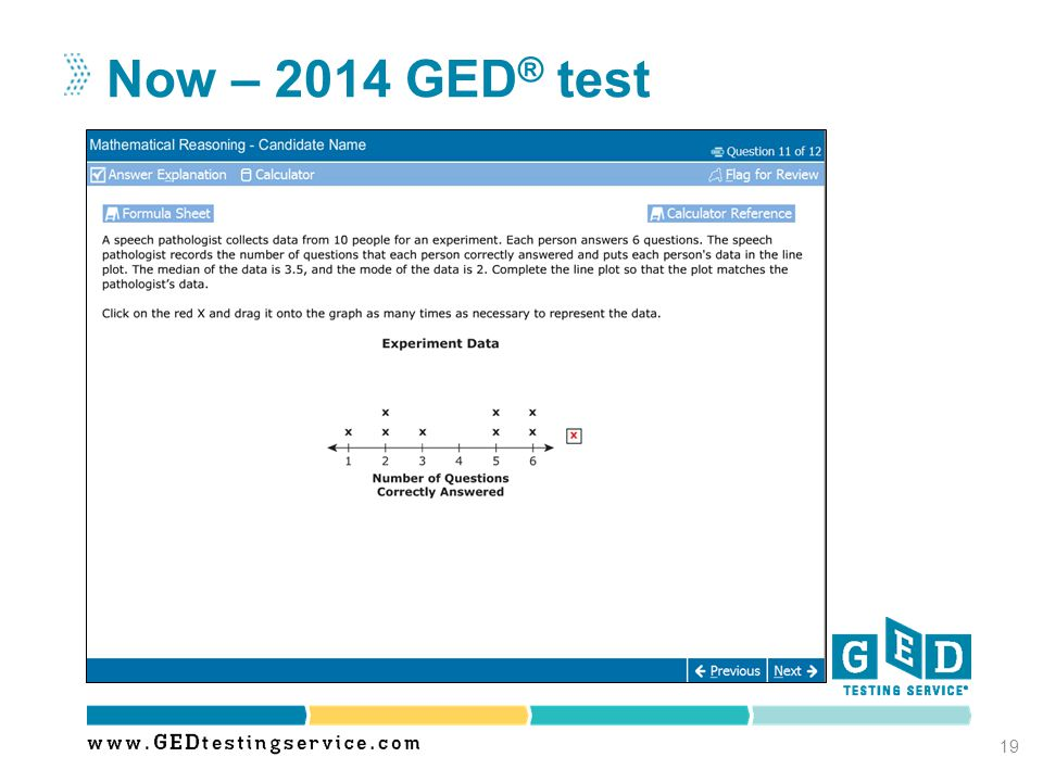 Now – 2014 GED ® test 19