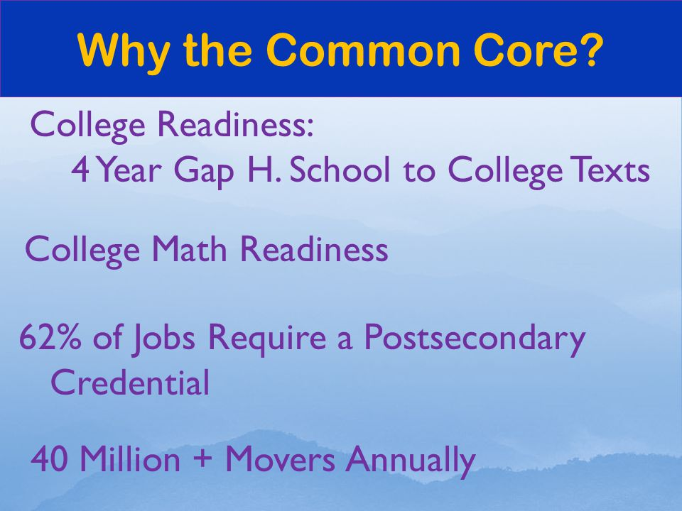College Readiness: 4 Year Gap H.