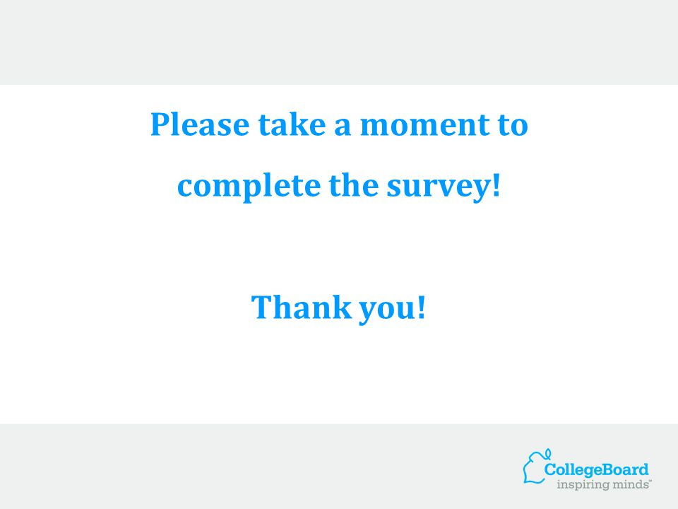 Please take a moment to complete the survey! Thank you!