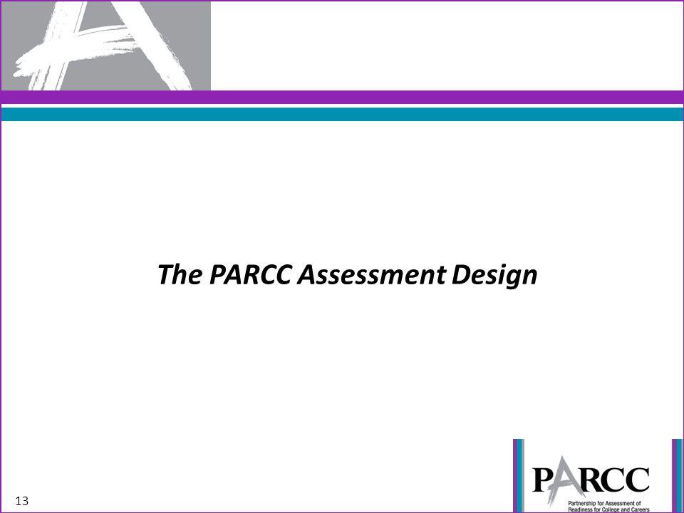 The PARCC Assessment Design 13
