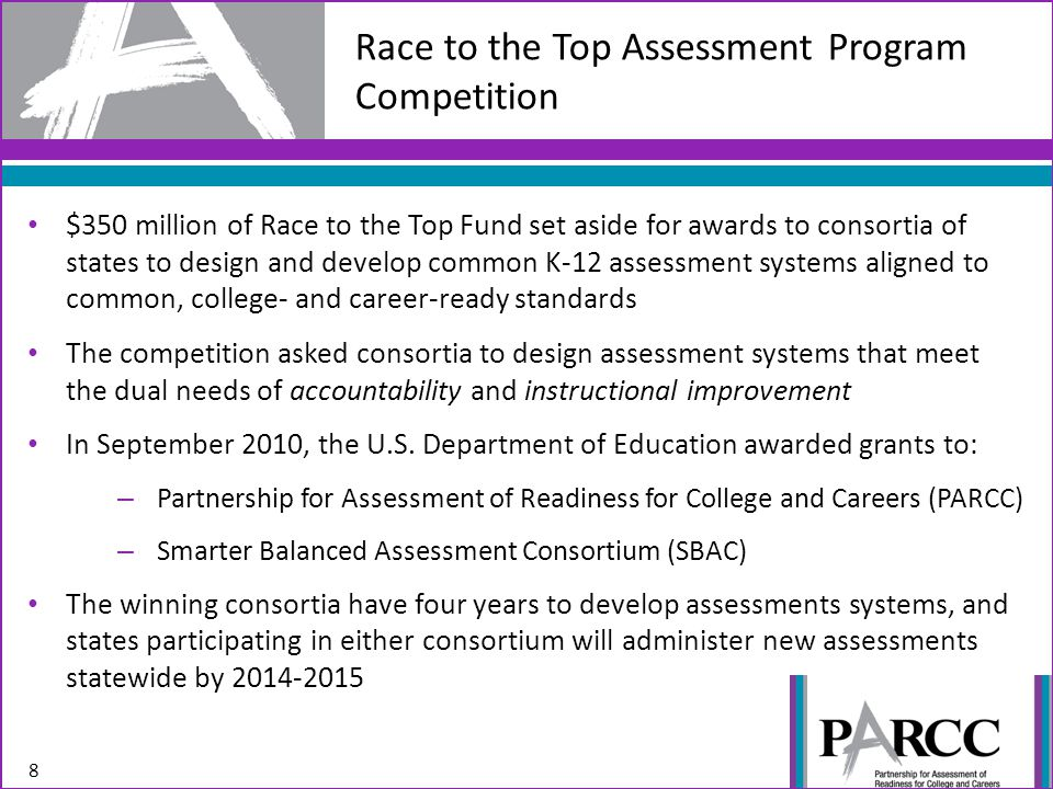 Partnership for Assessment of Readiness for College and Careers (PARCC) 9