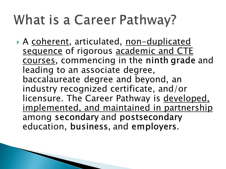  2010-11 Career Clusters and Career Pathways for secondary programs recently approved by BESE (68 Area of Concentrations-AOCs)  Guidebook identifies Primary and Related courses for each AOC, courses included in the STArt agreement, and Industry-Based Certifications (IBCs) available