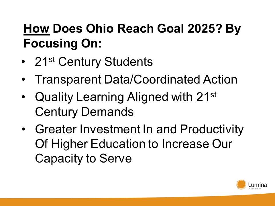 How Does Ohio Reach Goal 2025.
