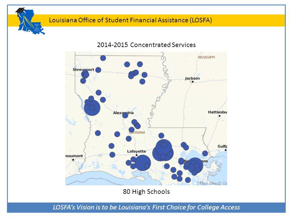 LOSFA's Vision is to be Louisiana's First Choice for College Access Louisiana Office of Student Financial Assistance (LOSFA) Contact LOSFA www.osfa.la.gov custserv@la.gov (225) 219-1012 8:00 a.m.