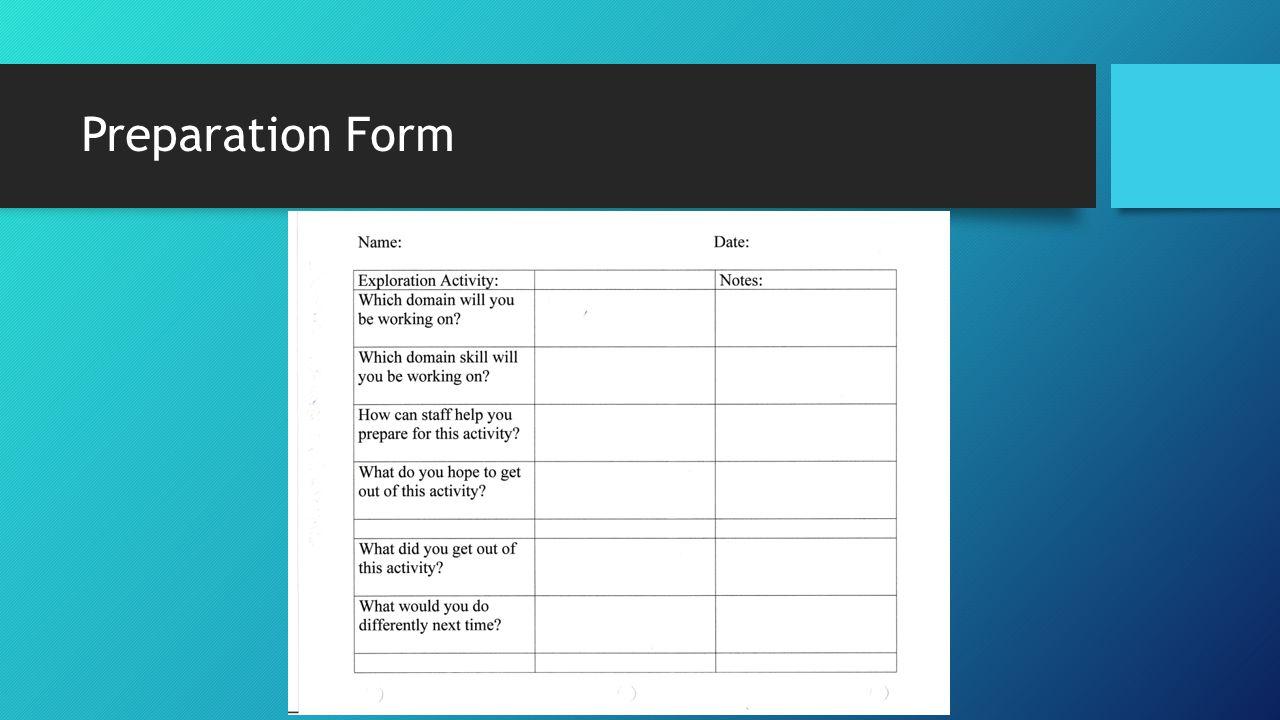 Preparation Form