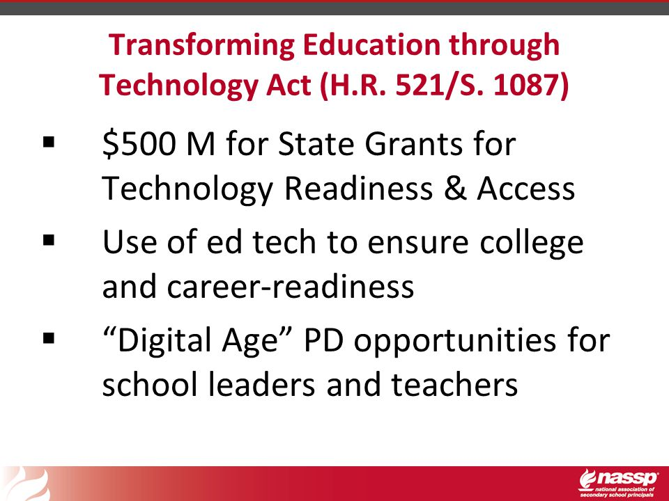 Transforming Education through Technology Act (H.R.