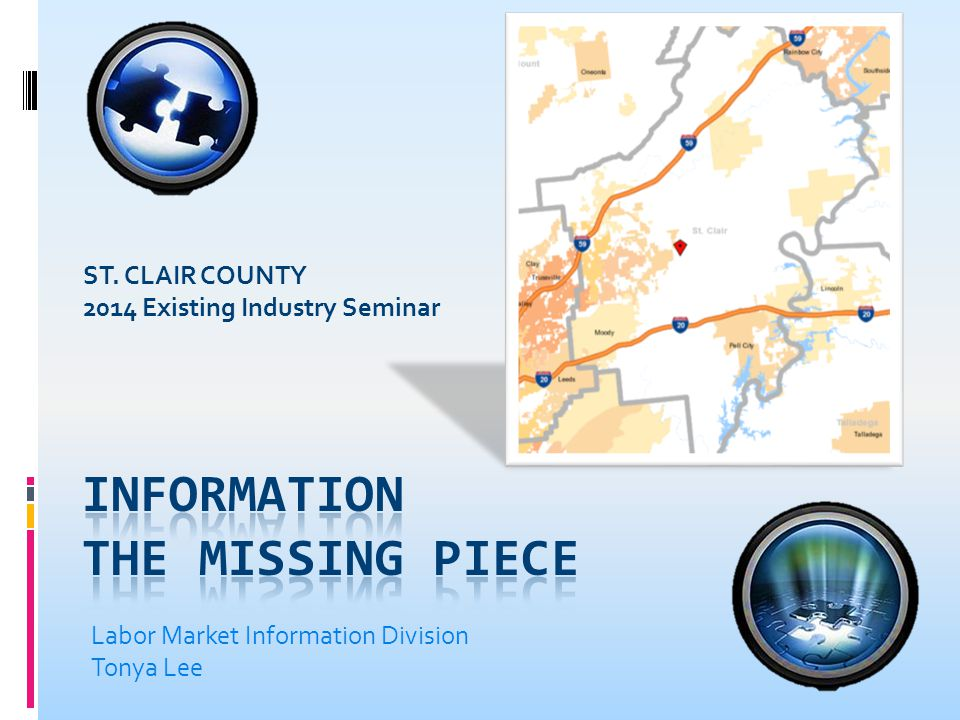 2011 Commuting Patterns Distance Workers Travel to St. Clair County to Work Count Share