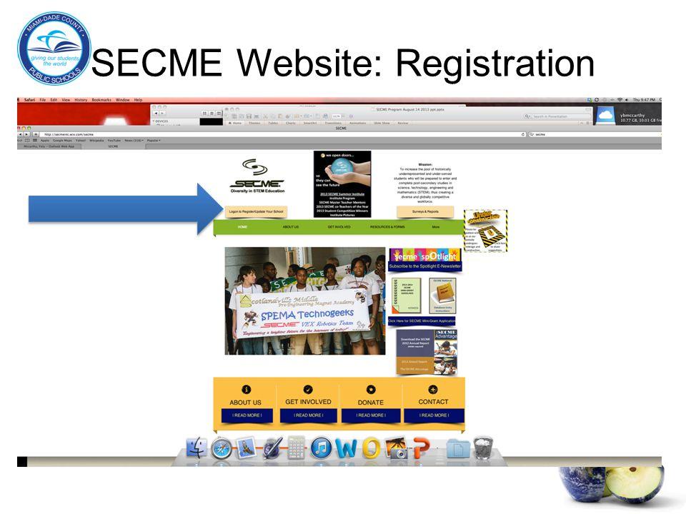 SECME Website: Registration