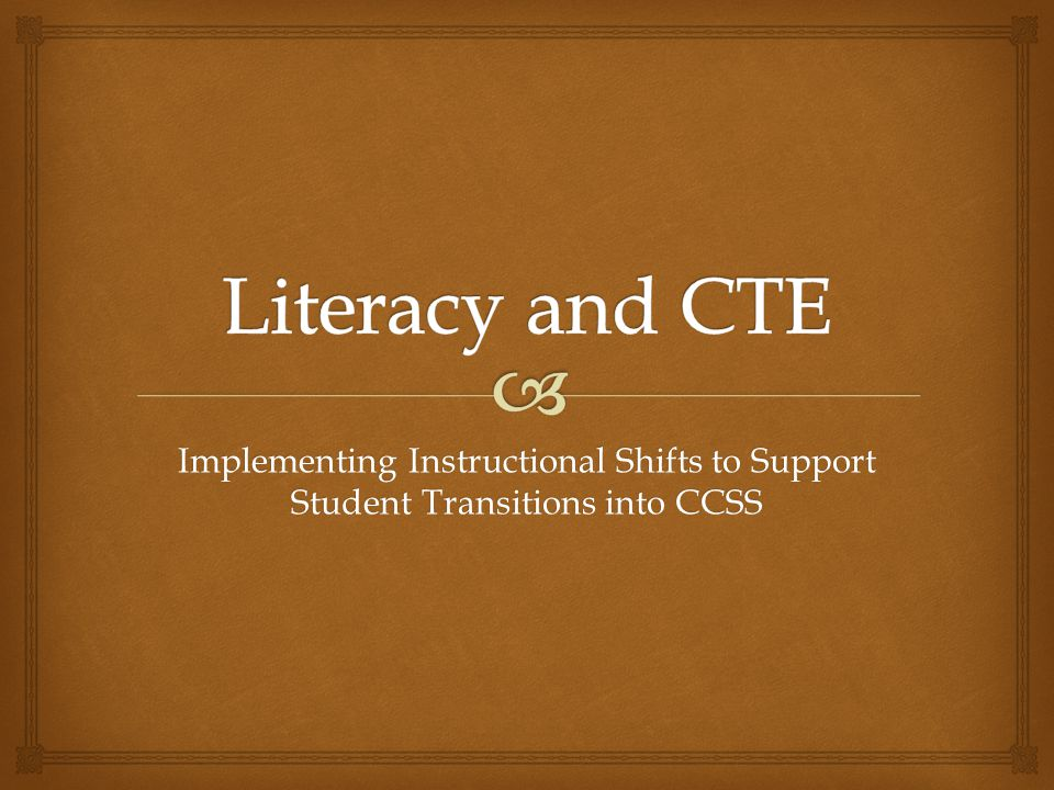Implementing Instructional Shifts to Support Student Transitions into CCSS