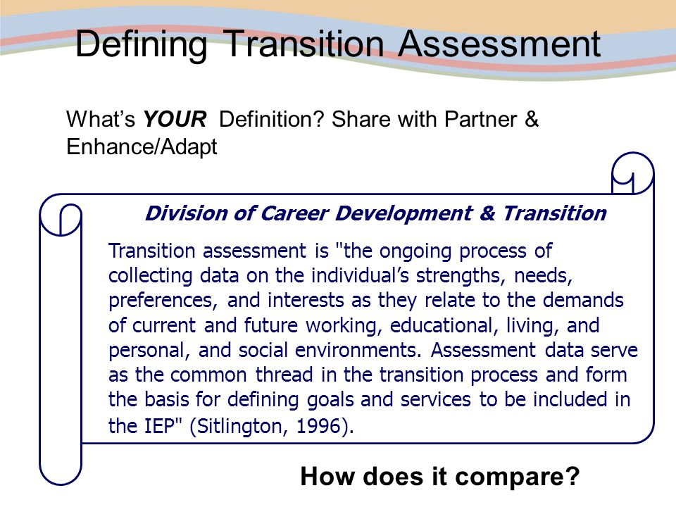 Transition Assessment BINGO.1. Temperament2. Learning Styles3.