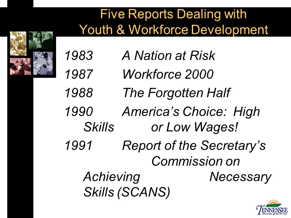 Three Categories Defined by the Five Major Reports Skills and the Measurement of Skills Enhancing the Connection between School and Work Enhancing the Transition to Postsecondary and Work