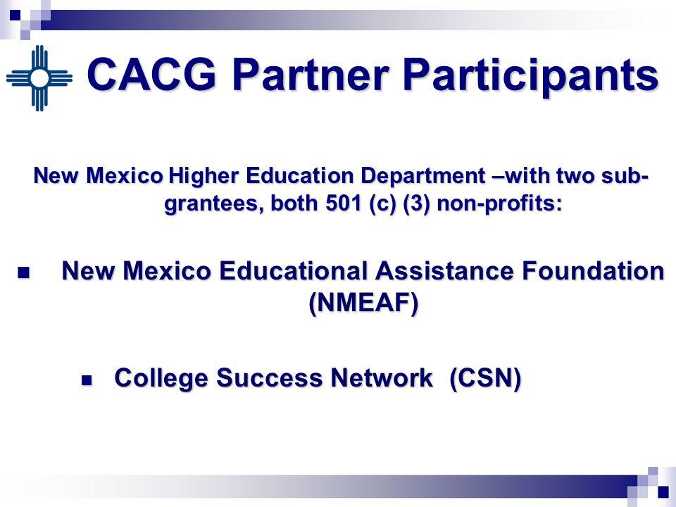 CACG Key Focus Areas Marketing and Outreach Marketing and Outreach Professional Development Professional Development Access to Funds Access to Funds