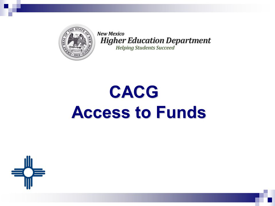 CACG Access to Funds CACG Access to Funds