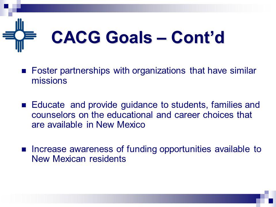 CACG Marketing and Outreach Events CACG Marketing and Outreach Events