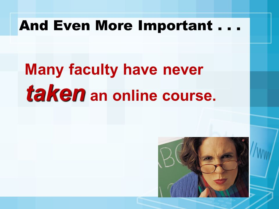 Why Certify Faculty.