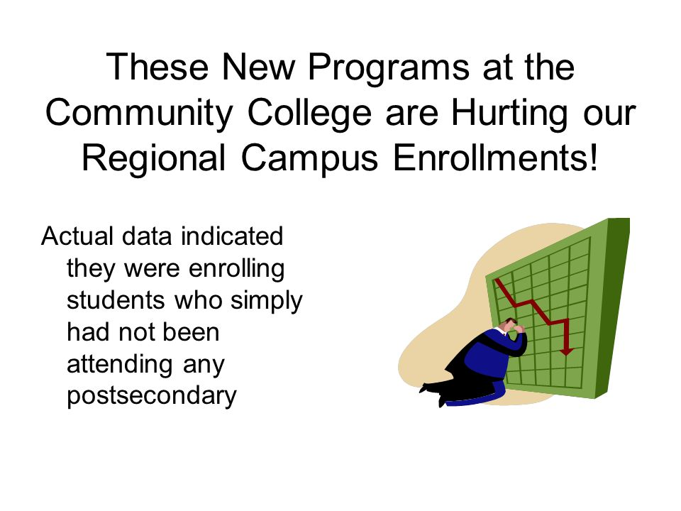 These New Programs at the Community College are Hurting our Regional Campus Enrollments.