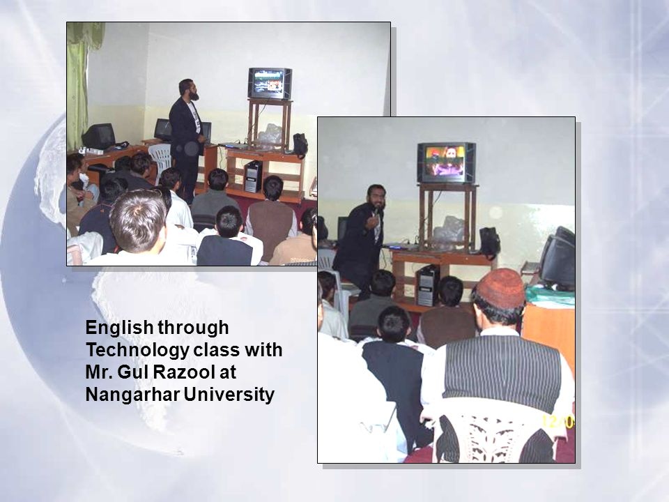 English through Technology class with Mr. Gul Razool at Nangarhar University