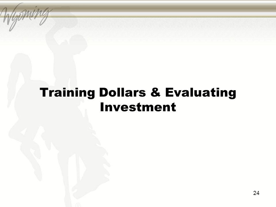 Training Dollars & Evaluating Investment 24