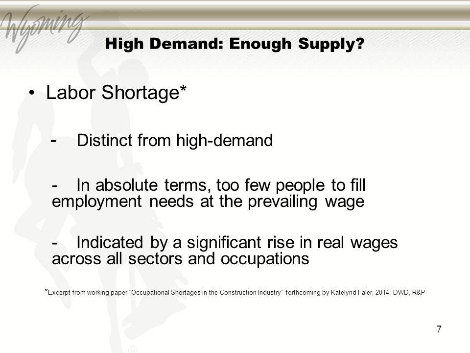 High Demand: Enough Supply.