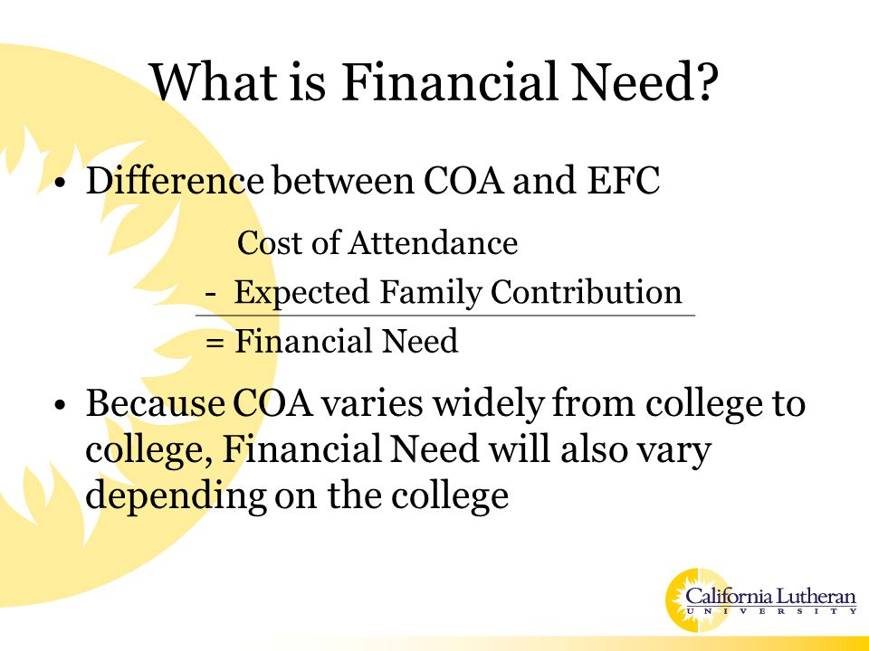 What is Financial Need.
