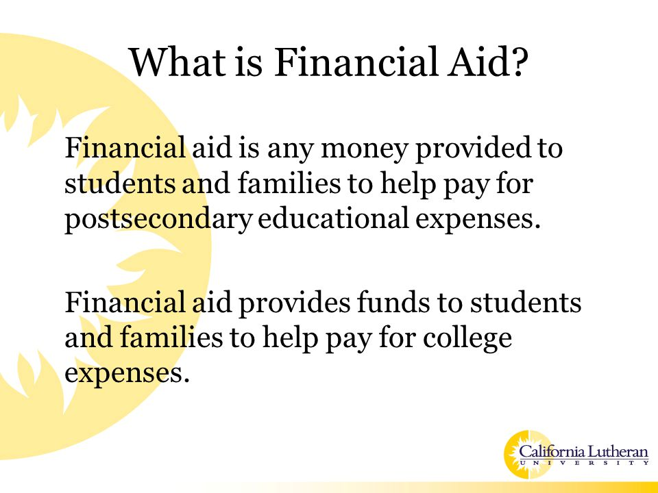 Expected Family Contribution Calculated using data from the FAFSA and a federal formula The need analysis formula is not a cash flow analysis, but an attempt to measure the relative financial strength of a family to meet educational expenses over time. Stays the same regardless of the college Colleges use the EFC to calculate the student's Financial Aid Award
