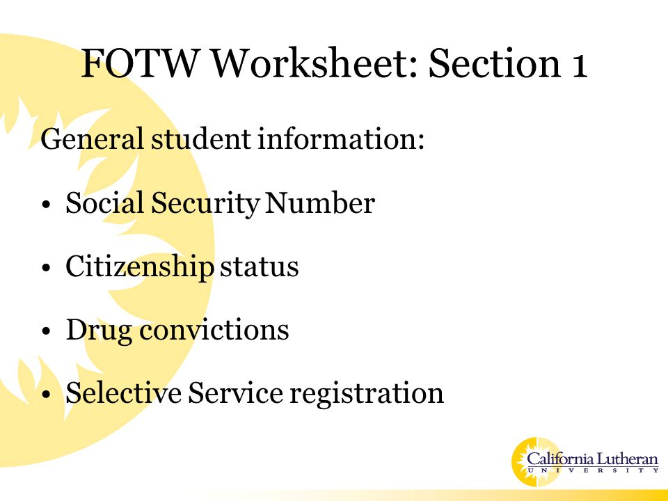 Types of Financial Aid Need-based –Grants/Scholarships –Federal Work-Study –Loans Non-need based –Scholarships –Loans