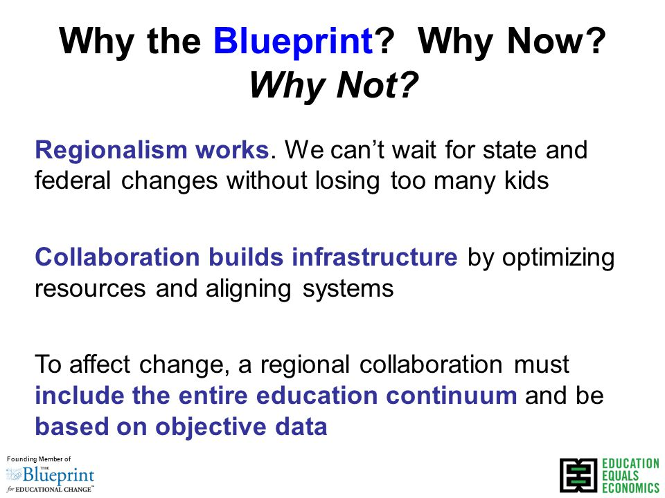 Founding Member of Why the Blueprint. Why Now. Why Not.
