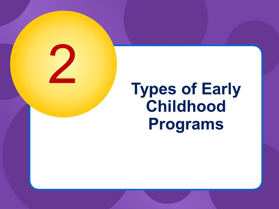 Types of Early Childhood Programs 2