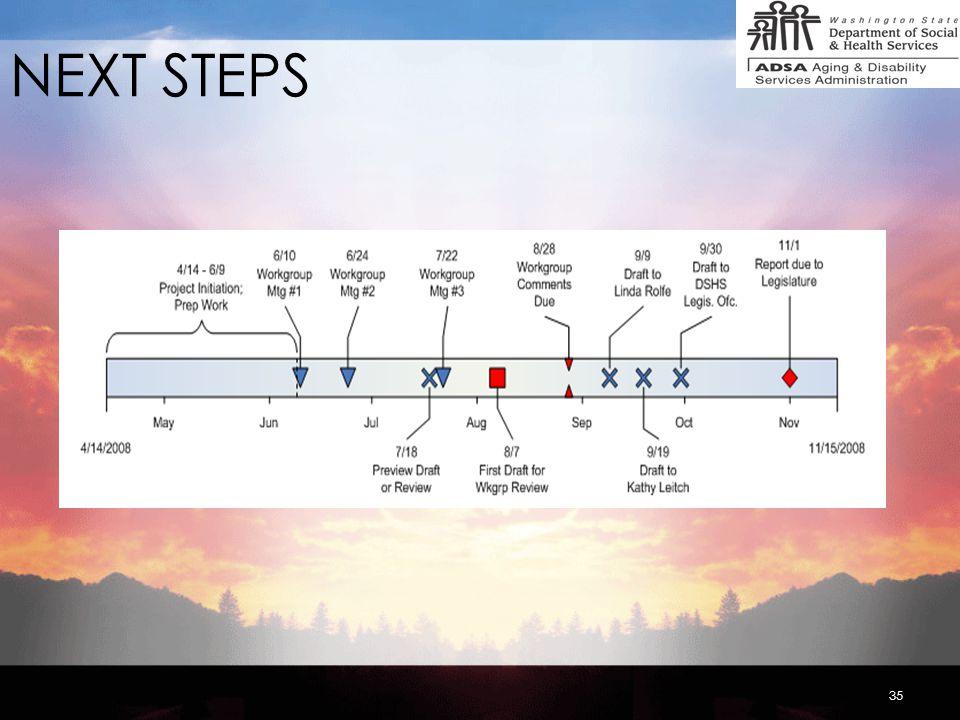 35 NEXT STEPS