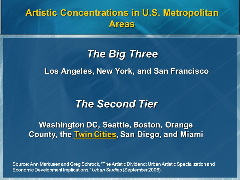 Artistic Concentrations in U.S.