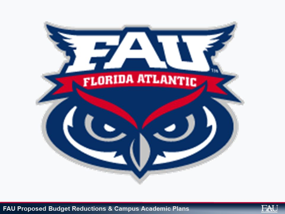 FAU Proposed Budget Reductions & Campus Academic Plans $18,625,078