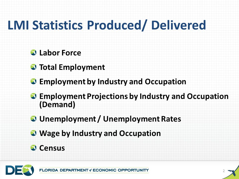 Employment by Industry October 2011 (Not Seasonally Adjusted) Source: U.S.