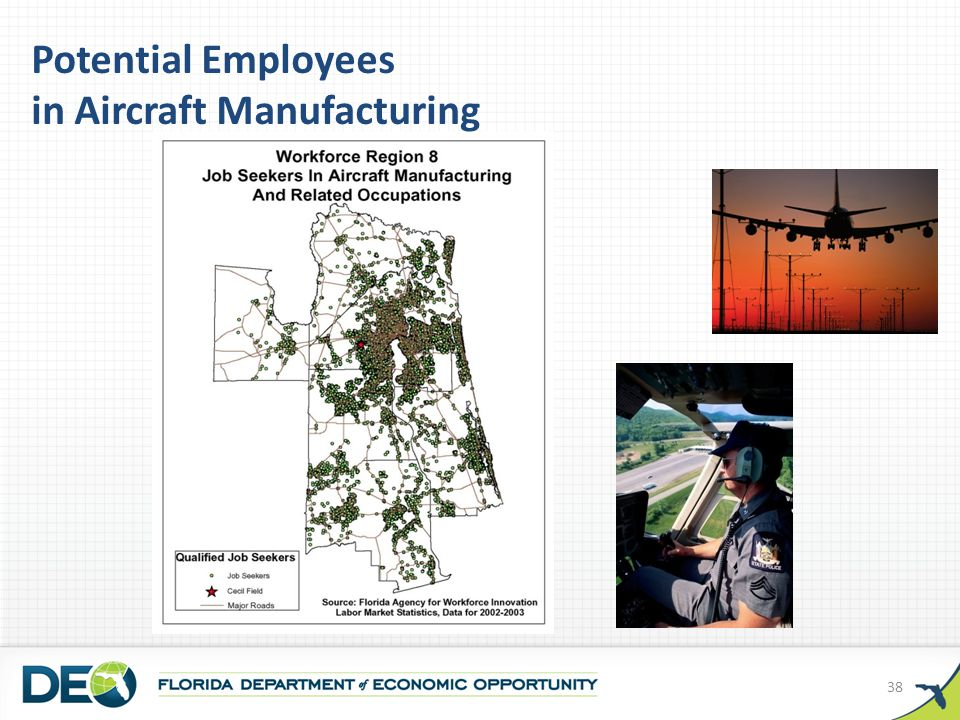 Potential Employees in Aircraft Manufacturing 38