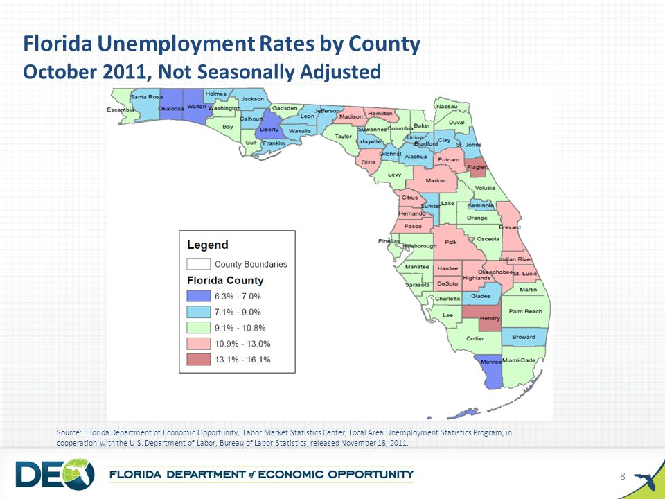 P = Preliminary Source: Florida Department of Economic Opportunity, Labor Market Statistics Center and the U.S.