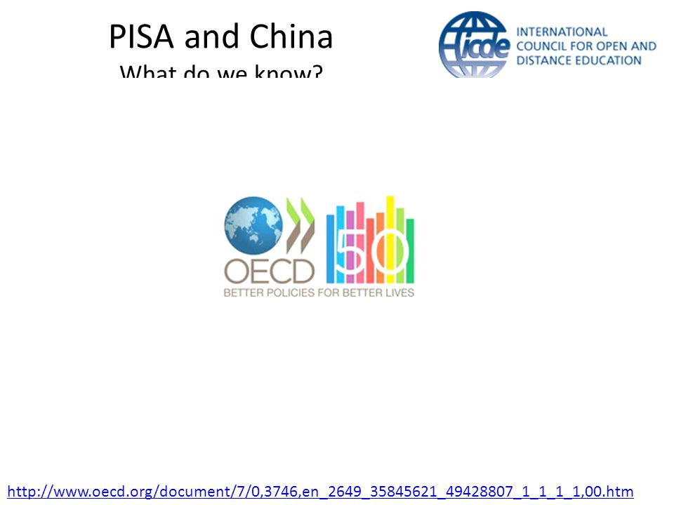 PISA and China What do we know.
