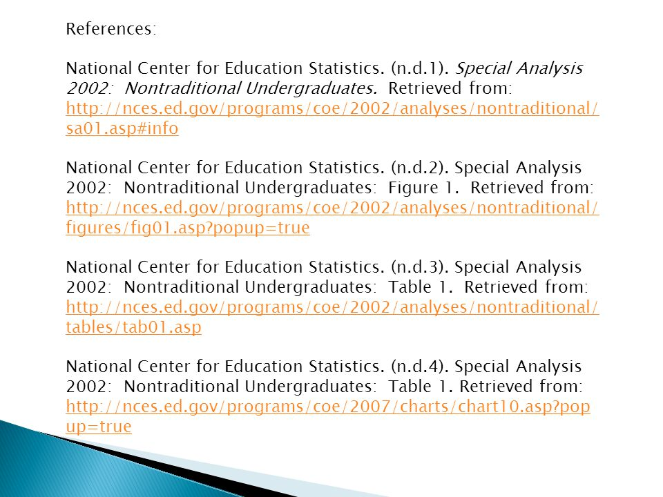 References: National Center for Education Statistics.