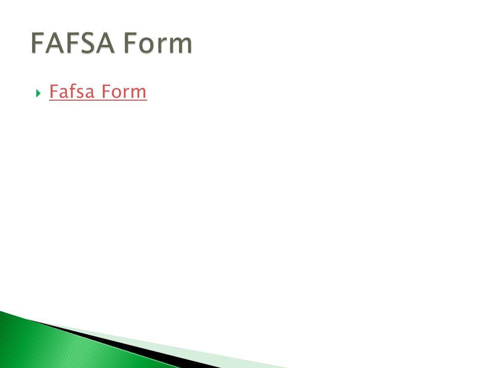  Fafsa Form Fafsa Form