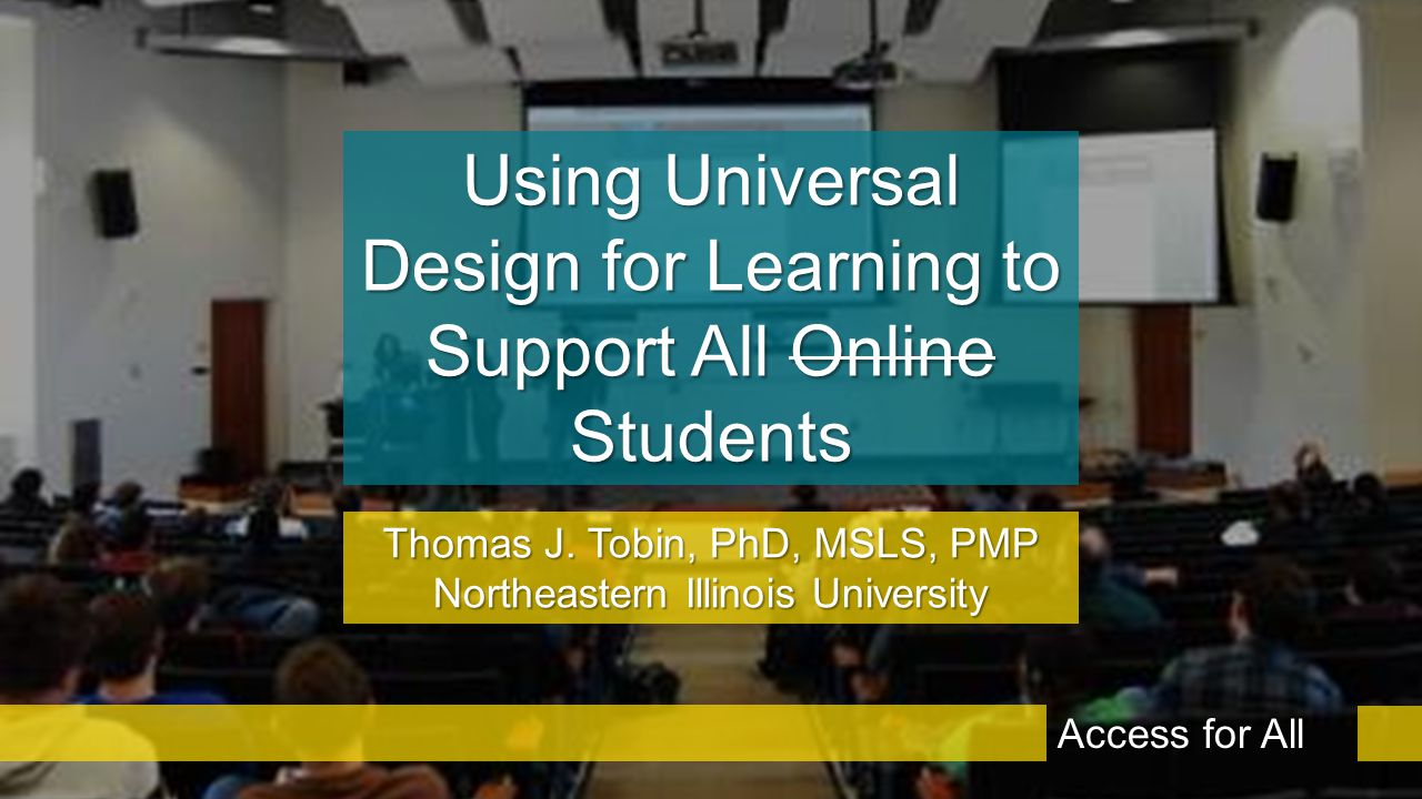 What is Universal Design for Learning? Access for All