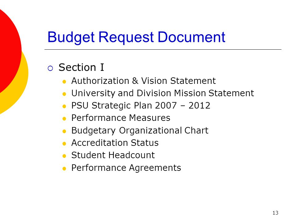 14 Budget Request Document  Section II Tables by Category and Program Fringe Benefit Rates  Section III Division of Budget Forms